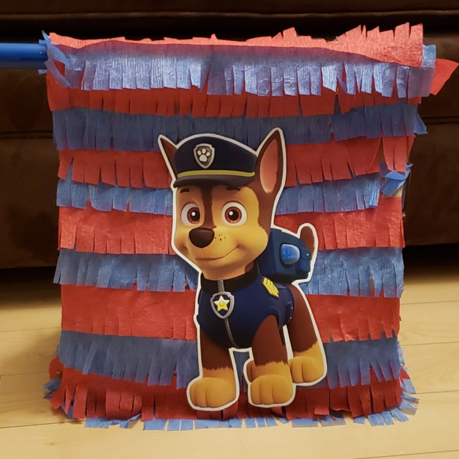 Cheap 10 minute Paw Patrol / Lego Batman DIY Piñata