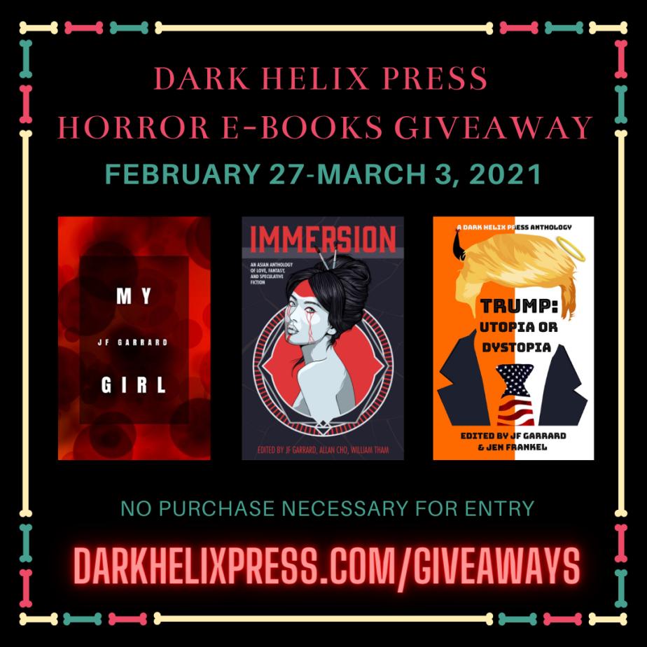 Horror E-Books Giveaway Feb 27-Mar 3,2021
